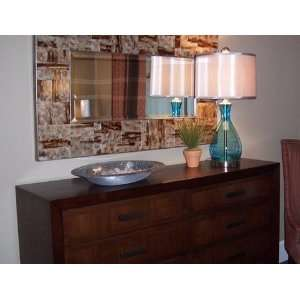 Extra Large Brown REVERSE PAINTED Wall Mirror