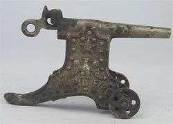 RAPID FIRE cast iron cap gun cannon antique
