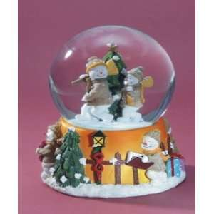 Snowmen Musical Snow Globe   White Christmas