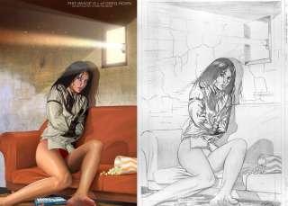 Elektra 12 Original Art Cover by Greg Horn