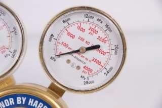HARRIS RADNOR HIGH PRESSURE BRASS OXYGEN REGULATOR 2500 125 125 PSI