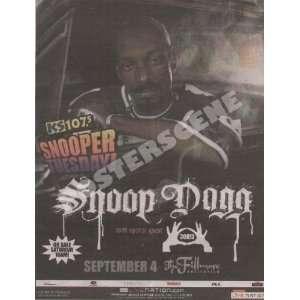 Snoop Dogg Denver Newspaper Concert Promo Ad Poster