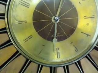 Eames Era Vtg SETH THOMAS Sunburst Starburst CLOCK Mid Century Sputnik