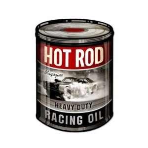 Hot Rod Magazine Racing Oil Can Shop Garage Vintage Metal