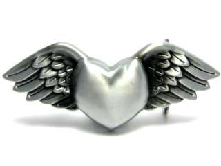 GUARDIAN ANGEL WING LOVE FOREVER TRUE HEART BELT BUCKLE