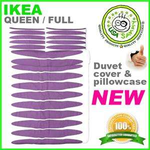 NEW Ikea duvet cover pillowcase cotton modern purple