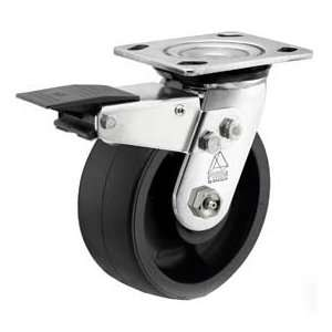 Bassick Prism Stainless Steel Total Lock Swivel Caster, Reinforced