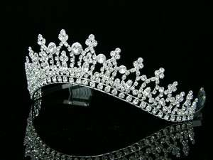 Bridal Princess Rhinestones Crystal Wedding Prom Crown Tiara 6208