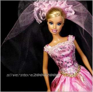 New Princess Wedding Dress Gown for Barbie doll 401BU