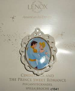 Lenox Disney CINDERELLA & PRINCE CHARMING SWEET ROMANCE PIN new