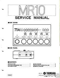 Classic 80s Yamaha MR10 Drum Machine Service Manual