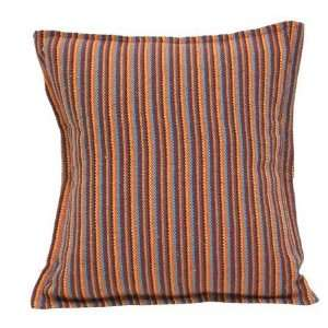 Brown Striped Hammock Square Cotton Pillow Patio, Lawn & Garden