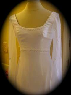Michael Angelo WEDDING DRESS Gown MEDIEVAL RENAISSANCE CELTIC White 6