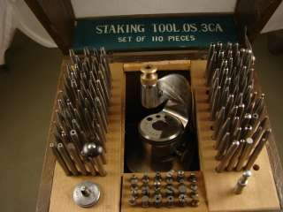 & GLASS BOX of WATCH REPAIR HENRY PAULSON & CO. STAKING TOOL 0S.3CA
