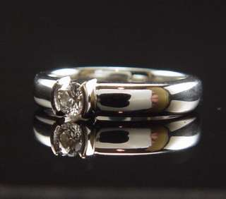 ELEGANT TIFFANY & CO PLATINUM DIAMOND ETOILE ENGAGEMENT RING W/ BOX