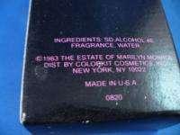 MARILYN MONROE SIGNED PERFUME BOTTLE VINTAGE 1983 art ~
