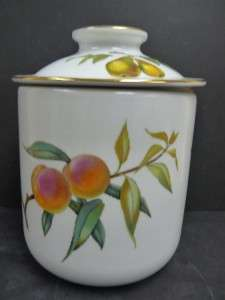 Royal Worcester Evesham Gold Large Canister With Lid