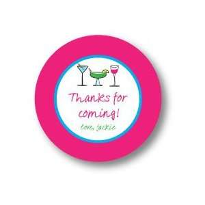Polka Dot Pear Design   Round Stickers (Girls Night Out
