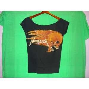 Womens Medium Metallica Black T Shirt with high Quality