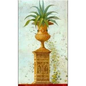 Pedestales Con Jarrones Y Plantas II Poster Print: Home & Kitchen