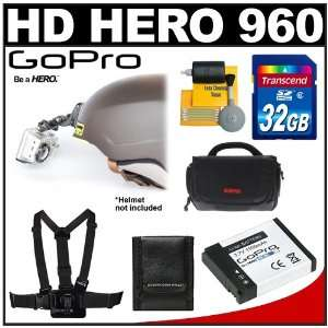 Camera & Waterproof Housing with 32GB Card + Chest Mount + Battery