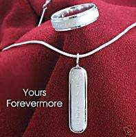 Personalized Stainless Steel Name Ring & Necklace Set
