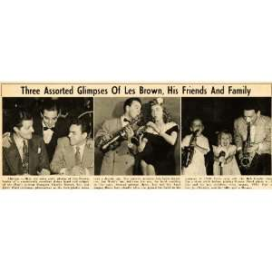 1951 Print Les Brown Saxophone Big Band Family Friends