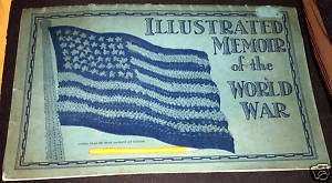 ILLUSTRATED MEMOIR OF THE WORLD WAR,BOOK WW1 RARE