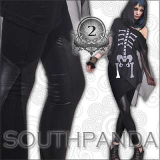SL254 Black Punk Funky Fashion Tights Pants Leggings