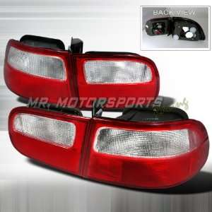 CIVIC 3D RED CLEAR TAIL LIGHTS Automotive