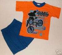 PDQ Boys Size 7 Shorts Outfit, BMX Bike, NEW