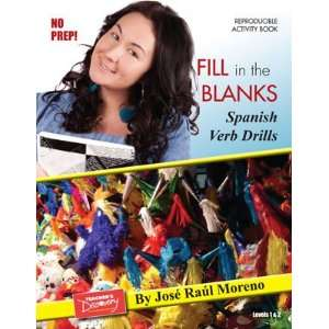 Fill in the blanks Spanish Verb Drills Book on CD Teacher