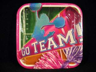 Cheerleading Go Team Party Supplies Favors Plates Napkins Cups Invites
