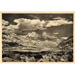 1938 Mythen Mountains Switzerland Alps Landscape Swiss