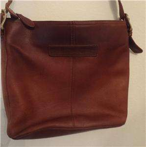 FOSSIL Rich Brown Leather Satchel Shoulder Bag Handbag Tote Purse