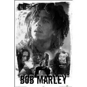Bob Marley Black and White Poster 24831 Patio, Lawn