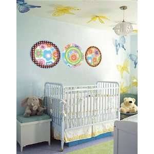 Round Circle Polka Dot Set of 3 Vinyl Wall Decal Cute for
