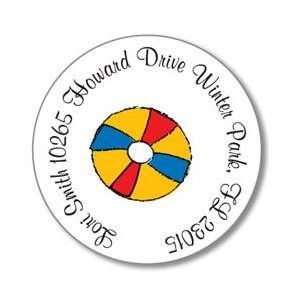 Polka Dot Pear Design   Round Stickers (Beach Ball)