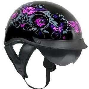 Outlaw T 72 Dual Visor Glossy Motorcycle Half Helmet with Graphics of