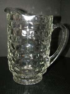Fostoria American Crystal Large Heavy Pitcher 39 oz. 1/2 gallon