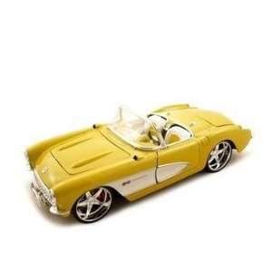 1957 Chevrolet Corvette Yellow Custom 1/18 Model Car Toys