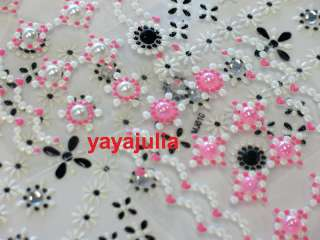 Sheet 3D Nail Art Rhinestones Beads Decal Stickers MJ