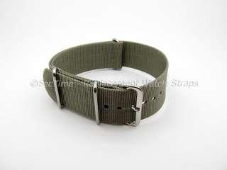 Military Nylon Watch Strap NATO G10 (3 rings) Grey/Light Olive Green
