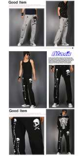Skull Barbed Wire Sportswear Pants Punk Fort Rock