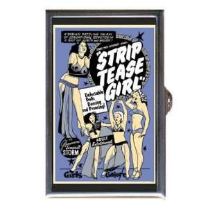 STRIP TEASE GIRL PIN UP RISQUE Coin, Mint or Pill Box