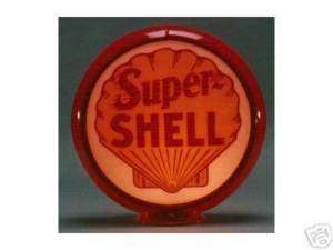 SUPER SHELL GASOLINE GAS PUMP GLOBE SIGN