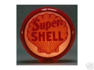 SUPER SHELL GASOLINE GAS PUMP GLOBE SIGN