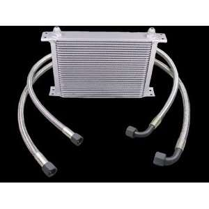 Aluminum Universal 30 Row Oil Cooler Kit High Performance
