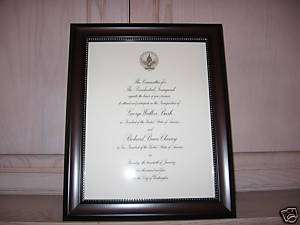 Original George Bush Inaugural Invitation   Mint!