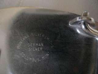 German Silver & Gold Tone Belt Buckle Western Letter D Montana